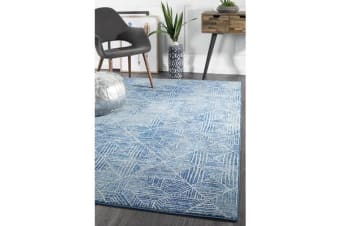 Amelia Navy & Grey Coastal Durable Rug 230x160cm