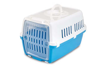 Savic Zephos 1 Plastic Door Pet Carrier (Blue/White)