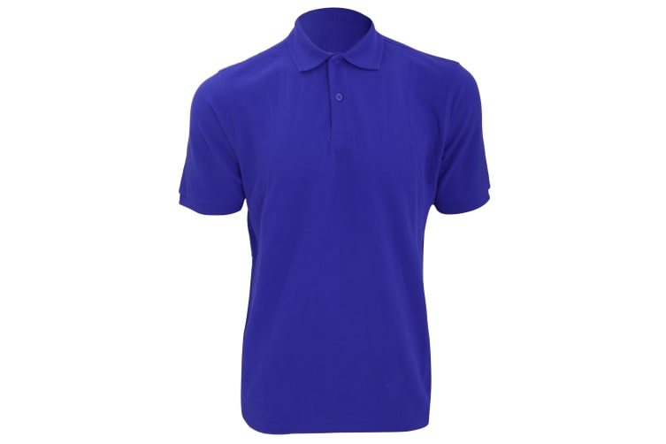 Russell Mens Ripple Collar & Cuff Short Sleeve Polo Shirt (Bright Royal) (4XL)