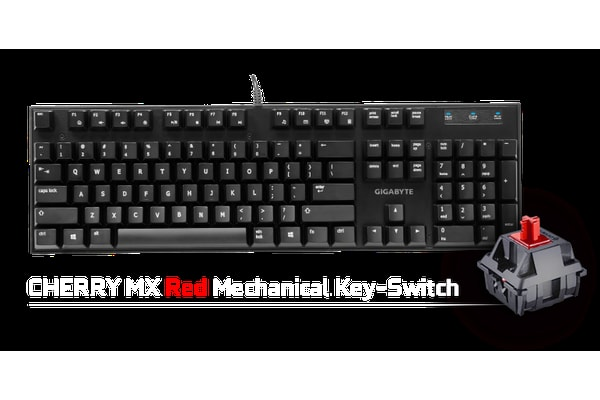 Gigabyte FORCE K81 Mechanical Gaming Keyboard Cherry MX Red Switch Anti-ghosting Function & Windows-lock hotkeys Wear Resistant Keycaps