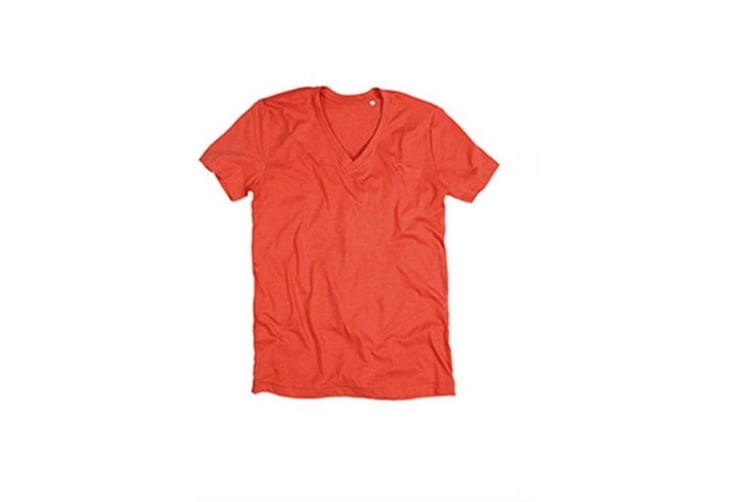 Stedman Mens Luke Melange V Neck T-Shirt (Pumpkin Heather) (L)