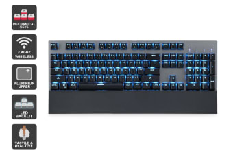 Kogan Wireless Mechanical Keyboard with LED Backlight (Brown Switch)