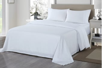 Royal Comfort 1200TC Ultrasoft Microfibre Bed Sheet Set (King, White)