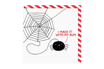 Ohh Deer I Made It With My Bum Square Greeting Card (White/Black/Red) (One Size)