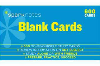 Blank Study Cards SparkNotes Study Cards
