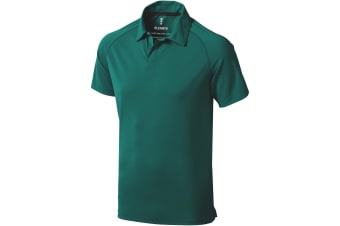 Elevate Mens Ottawa Short Sleeve Polo (Forest Green) (L)