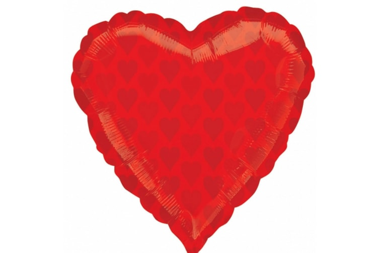 Amscan 18 Inch Heart Foil Balloon (Red) (One Size)