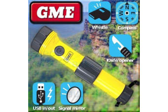 GME LED FLOATING BOAT RESCUE TORCH EMERGENCY SELF CHARGE CHARGING WATER ET100
