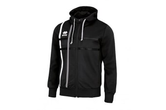 Errea Mens Maddi Zip Up Hoodie (Black/Anthracite)