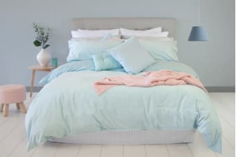 Ardor Velvet Quilt Cover Set (Duck Egg)