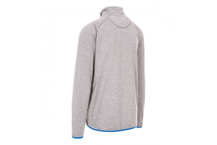Trespass Mens Colson Full Zip Active Top (Grey Marl) (XXS)
