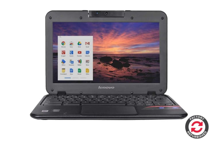 "Lenovo 11.6"" Chromebook N21 Chrome OS Laptop (N2840, 4GB RAM 16GB SSD, Black) - Refurbished B Grade"