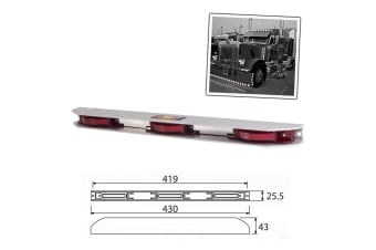 AP AUTO LED CLEARANCE LIGHT SIDE MARKER LAMP RED TRAILER TRUCK 12V NEW