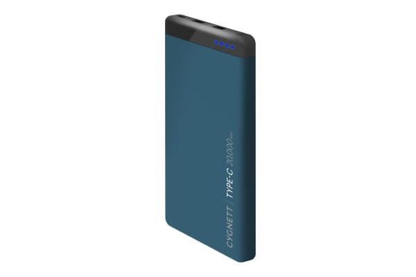 Cygnett ChargeUp Pro 20000 mAh 63W USB-C Power Bank - Teal (CY2224PBCHE)