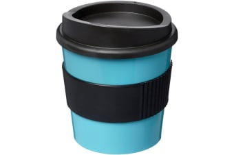 Americano Primo 250ml Insulated Tumbler With Grip (Aqua Blue/Solid Black) (One Size)