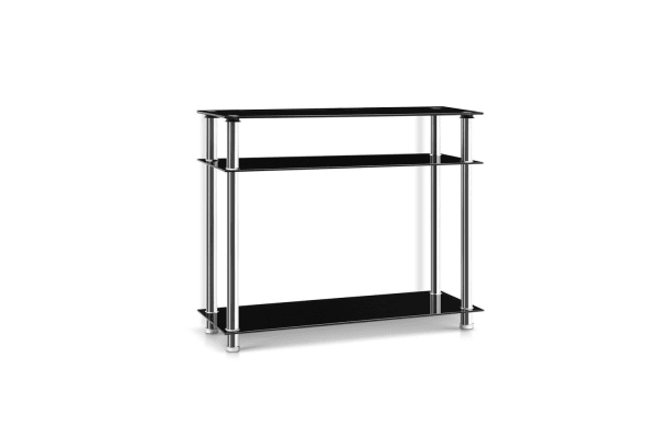 Entry Hall Console Table (Black/Silver)