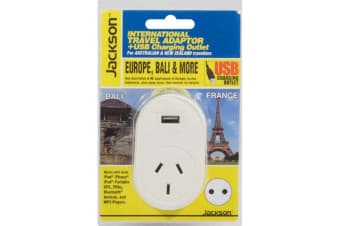 Travel Adaptor To Europe Bali Indonesia With USB Jackson