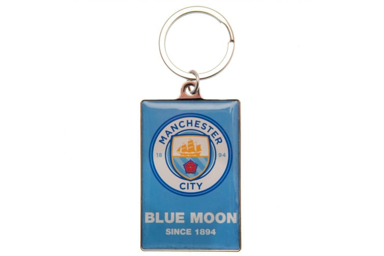Manchester City FC Deluxe Keyring (Blue) (One Size)