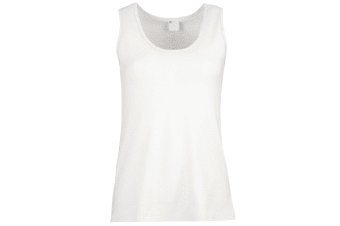 Womens/Ladies Value Fitted Sleeveless Vest (Snow)