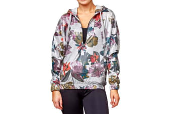 Bonds Women's Active Windcheater Hoodie (Marle Midnight Garden, Size XS)