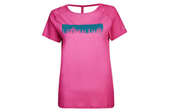 Dare 2B Womens/Ladies Astral Forest Cutout Neck T-Shirt (Cyber Pink) (14 UK)
