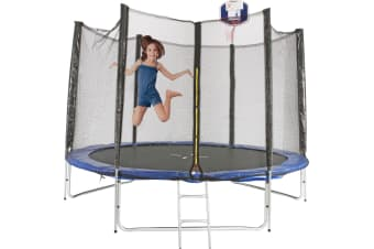 8ft Trampoline With Ladder & Basketball Hoop | PERTH PICK UP