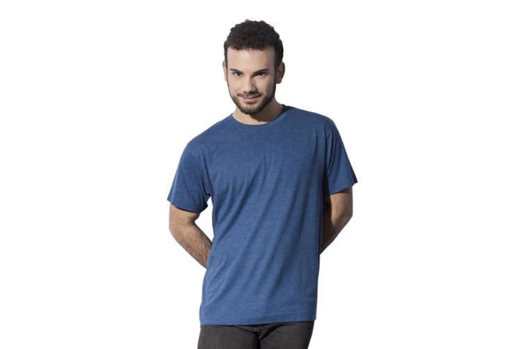 Nakedshirt Mens Larry Triblend T-Shirt (Double Dyed Seafoam) (S)
