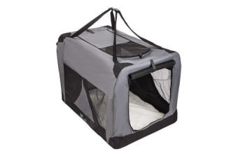 Portable Soft Dog Crate XL - GREY