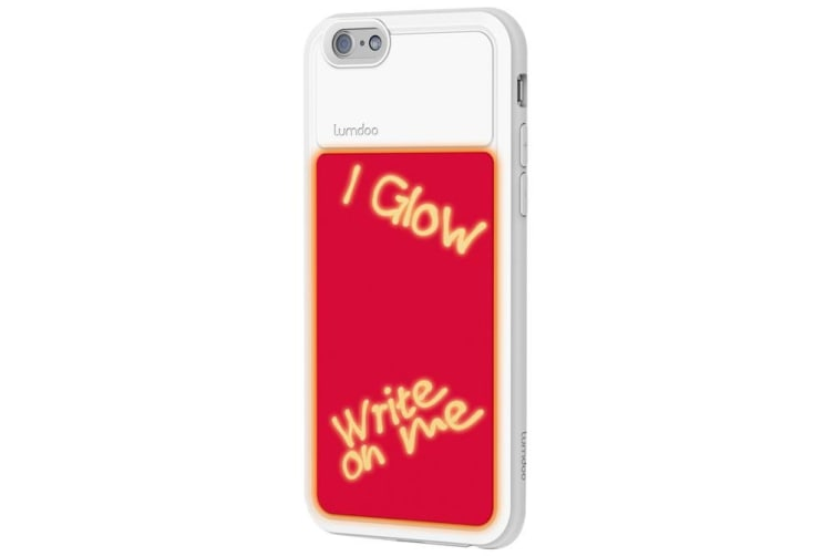 Extreme Light Glow in the Dark Case Cover w/UV Pen for Apple iPhone 6/6S WHT/PNK
