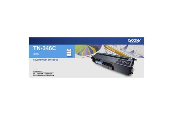 Brother TN-346CCyan Toner 3500 Page, Suit HL-L8350CDW