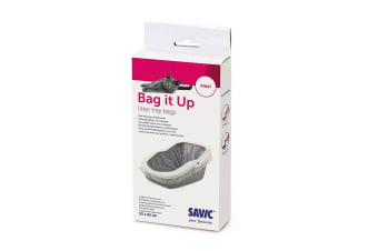 Savic Bag It Up Maxi Cat Litter Tray Bags (Pack Of 12) (White)