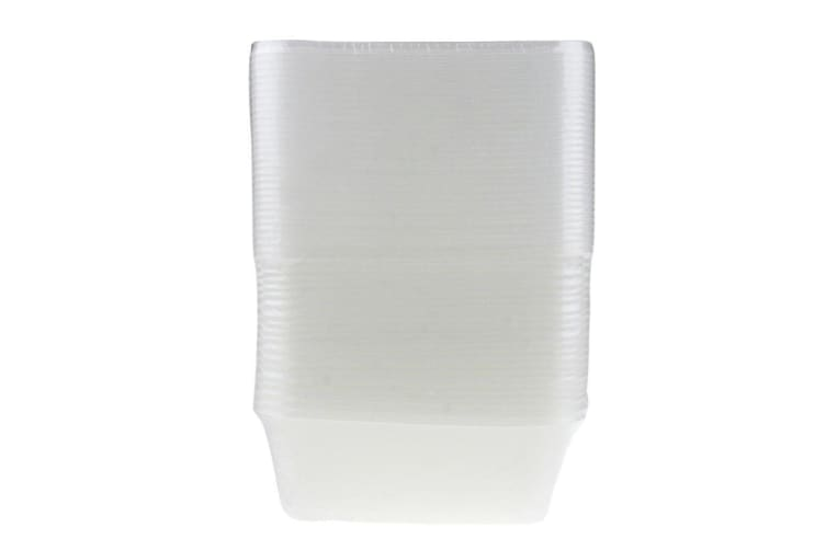 300 x 750ML RECTANGLE TAKEAWAY CONTAINERS w LIDS DISPOSABLE PLASTIC FOOD CONTAINER