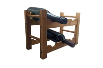 Vin Bouquet 6 Bottle Bamboo Wine Rack
