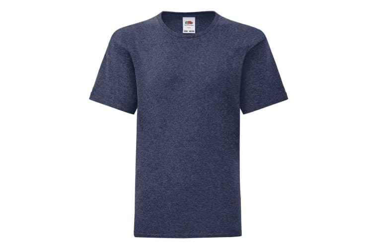 Fruit Of The Loom Childrens/Kids Iconic T-Shirt (Heather Navy) (5-6 Years)
