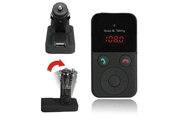Bluetooth V3.0 Fm Transmitter Handsfree Usb Microsd Input Mp3 Play Bt301