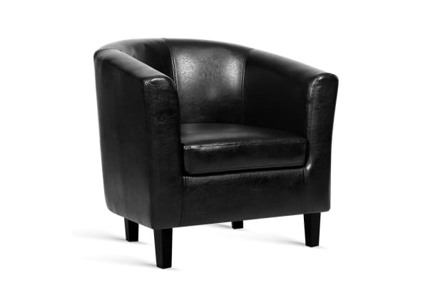 PU Leather Dining Armchair (Black)