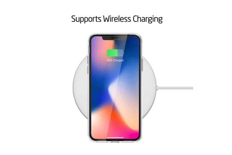 """Apple iPhone X (5.8"""") Ultra Slim Premium Crystal Clear TPU Gel Back Case by MEZON – Wireless Charging Compatible – With Screen Protector (iPhone X, Gel) – FREE EXPRESS"""