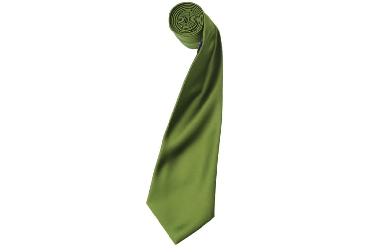 Premier Mens Plain Satin Tie (Narrow Blade) (Oasis Green) (One Size)