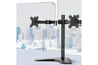 Artiss Dual HD LED Monitor Arm Stand TV Mount Holder 2 Arm Display Freestanding