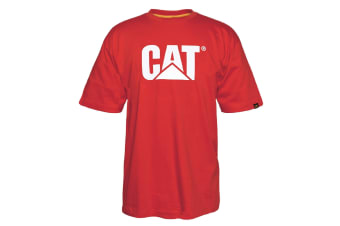 Caterpillar Mens TM Logo Short Sleeve T-Shirt (Red Tide)