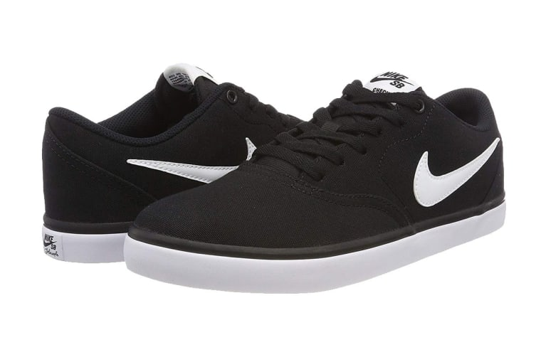 Nike SB Check Solarsoft Men's Skateboarding Shoe (Black/White, Size 10 US)