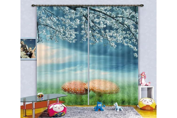 3D Flowers And Mushrooms 289 Curtains Drapes, 264cmx241cm(WxH) 104''x 94''