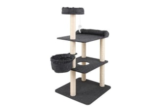 132cm Multi Level Cat Scratching Tree Post (Grey)
