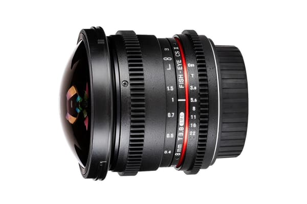 Samyang 8mm T/3.8 UMC Fish-eye CS II Lens (Canon Mount)