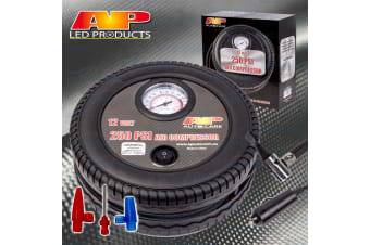 AP PRODUCTS 12V UNDERSEAT AIR COMPRESSOR INFLATOR TIRE TYRE CAR BIKE 4WD 100PSI