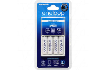 Panasonic Eneloop 4 AA AAA cell Basic Battery Charger including 4 x AA batteries