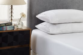 Royal Comfort 1500TC Cotton Blend 3-Piece Fitted Bed Sheet Set (White)