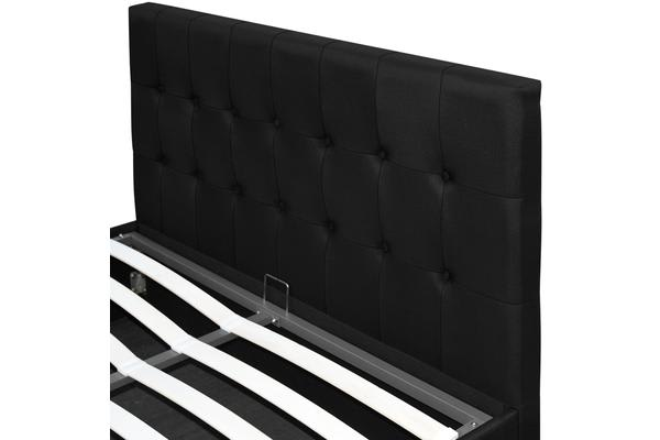 Artiss Gas Lift Double Bed Frame (Charcoal)