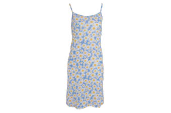 Tom Franks Womens/Ladies Jersey All Over Print Chemise Summer Dress (BLUE)
