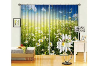 3D Lush Wildflowers 152 Curtains Drapes, 320cmx270cm(WxH) 126''x 106''